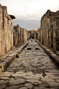 """Roman Road Through Pompeii"" by cliff hellis licensed under CC BY-NC-ND 2.0"